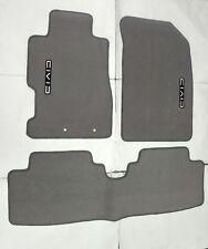 Fit 01-05 HONDA CIVIC Gray Nylon Floor Mats Carpet W/ Emblem