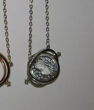 USAHarry Potter Time Turner Necklace Hermion Granger Rotating Spin Gold HourGlas
