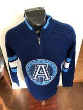 MENS Medium Football Zip Neck Knit Pullover Sweater CFL Toronto Argonauts NEW