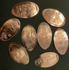 Disney Splash Mountain Pressed Penny Set 8 Frontierland Thunder Mountain Rabbit