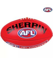 AFL Official ReplIca Match Day Ball Genuine Sherrin Football Red Leather Size 5