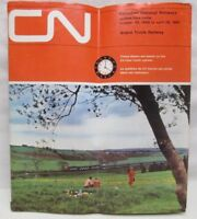 CN Canadian National Railways Time Table 1966 1967 Grand Trunk Railway