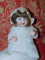 "ANTIQUE GERMAN BISQUE  CHARACTER BABY DOLL # 152 HERTEL SCHWAB 11""  OLD CLOTHES"