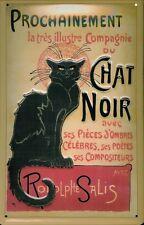 Tôle plaque Chat noir chat noir théâtre revue Bouclier Nostalgie Bouclier
