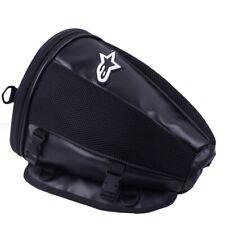Motorcycle Rear Seat Bag Black Alpinestars Logo Storage Travel Waterproof