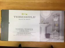 towel tower chrome Threshold ,new in box ,silver