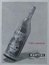 PUBLICITE MARTINI & ROSSI APERITIF A BASE DE VIN DE 1957 FRENCH AD PUB VOX