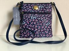 NEW! TOMMY HILFIGER NAVY BLUE PRINTED CROSSBODY MESSENGER SLING BAG PURSE $69