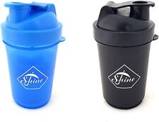 2 PACK PROTEIN BOTTLE SHAKERS WITH TIGHT LIDS FOR SPORTS AND FITNESS