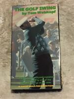 The Golf Swing by Tom Weiskopf (1986) VHS pro golf instruction lessons training