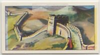 Great Wall of China Fortification Empire Invasion Vintage Trade Ad Card