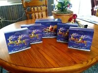 NIB Hallmark Santa's Midnight Ride Complete Dash Away All & 4 Sets Reindeer #1