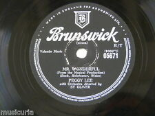 78rpm PEGGY LEE mr wonderful / the gypsy with fire in his shoes