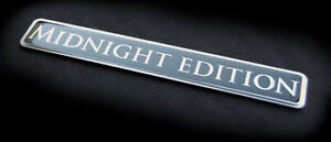 "Midnight Edition Real Metal Emblem .75x5"" Audi Aston Martin BMW Bentley Porsche"