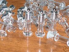 1  mini Tower tube Glass bottle vial charms pendant