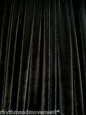 Dance Costume Fabric Black Stretch Velvet 50cm X 150cm Wide