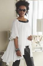 Adanya Blouse Red White Black Ashro Day Dress Top Sequin S M L XL 1X 2X 3X PLUS