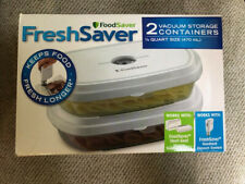 FoodSaver Fresh Saver Containers a box of two 1/2 Quart containers (New)