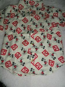 Large 10/12 Youth Mickey Mouse Button Shirt NWT Disney Parks