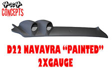 2 GAUGE PILLAR POD TO SUIT NISSAN NAVARRA D22 52mm NOT PAINTED Black
