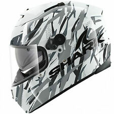 Shark Gloss Helmets with Integrated Sun Visor