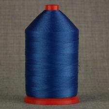 Forte 60s incollato NYLON 1.000 MTR BOBINA filati per cucire ROYAL BLU PELLE ARTIGIANALE