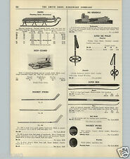 1951 PAPER AD Lovell Hockey Sticks Lund Snow Skis Poles Fleetwing Sled