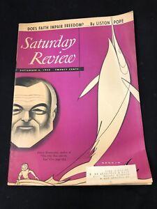 SATURDAY REVIEW September 6 1952 HEMINGWAY Old Man and the Sea RARE!