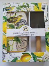 Michel Design Works Garden, SOUGHT AFTER Apron and Trowel Set-Lemon Basil