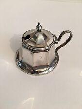 More details for vintage silver epns mustard pot