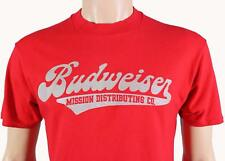 VTG 80s BUDWEISER Mission Distributing T-SHIRT XL Made In USA! Stedman Hi-Cru !