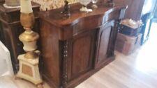 antica console inglese in legno, con colonnine tornite, da restaurare. '900