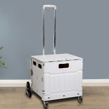 New Listingfolding Shopping Cart Portable Hand Utility Cart 8 Wheels Rolling With Hanging Lid