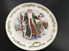 Lenox 1993 International Victorian Santa Plate Father Christmas Limited Edition