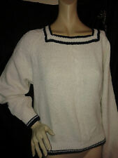 "Size X L...18? thick knit white  jumper ""Essentials by design"""