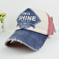 1x Men Women Flat Bill Demin Distressed Cap Vintage Baseball Trucker Hat 2VB
