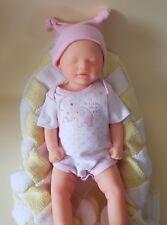 "18"" Full Body Silicone Baby Girl Doll, si douce comme un vrai bébé."