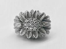 Außergewöhnlicher 585 14 Karat Weißgold Ring Diamanten ca. 0,42 ct Gr. 62
