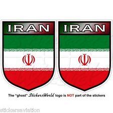 """Iran Iraniane SCUDO PERSIA Persiano 75mm (3 """") VINILE Paraurti Adesivi Decalcomanie X2"""