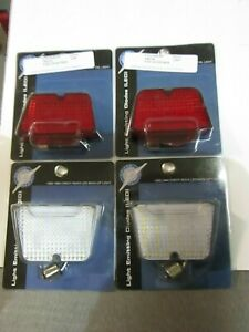 1962-64 Chevrolet Chevy II Nova Red LED Tail Light & Clear Back Up Lamp Lens Set