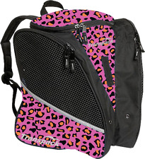 NEW Transpack Ice Skating Bag 6682-43 Pink/Orange Leopard
