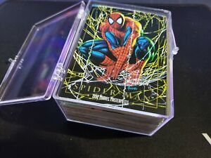 1992 Marvel Masterpieces Trading Cards COMPLETE BASE SET #1-100 Joe Jusko + case