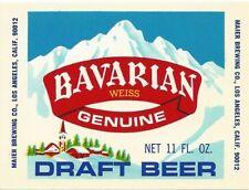 Bavarian Weiss, Maier Brewing, Los Angeles, California Vintage Paper Beer Label