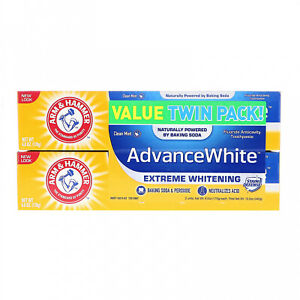 Arm And Hammer, AdvanceWhite, Extreme Whitening Toothpaste, Clean Mint, Twin Oz