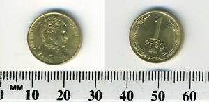 Chile 1991 - 1 Peso Aluminum-Bronze Coin - General Bernardo O'Higgins