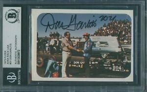 1973 Fleer AHRA Race USA #31 Don Garlits Signed Card Beckett Authentic Autograph