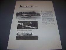 VINTAGE..JUNKERS D.I...3-VIEWS/DETAILS/STRUCTURE...RARE! (796E)