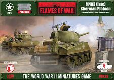 Flames of War USA American BNIB M4A3 (late) Sherman Platoon (with 105mm option)