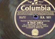 "78 tr/min 12"" Kings College Chapel Harlem-Boris Ord en Dulci Jubilo/Once dans royal"