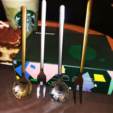 NEW Starbucks Coffee Mug Spoon&Dessert Fork Bar Sakura Cup Spoon Limited Edition